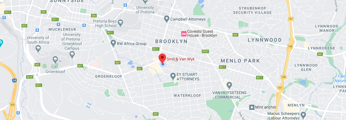 Smit & Van Wyk Map